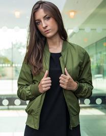 Ladies` Nylon Bomber Jacket